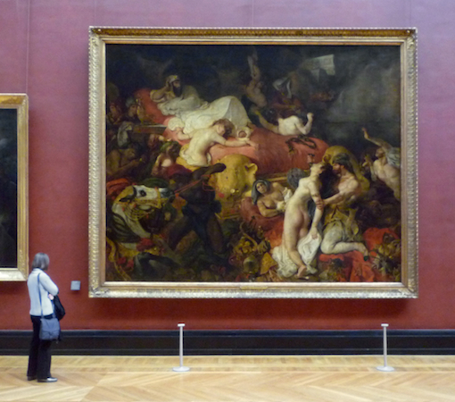 Eugène Delacroix, The Death of Sardanapalus, 1827, oil on canvas, 12 ft 10 in x 16 ft 3 in. (3.92 x 4.96m) (Louvre, Paris)