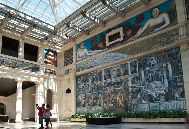 View toward the south-east (detail), Diego Rivera, Detroit Industry murals, 1932-33, twenty-seven fresco panels at the Detroit Institute of Arts (photo: Lars K. Christensen, CC BY-NC-ND 2.0)