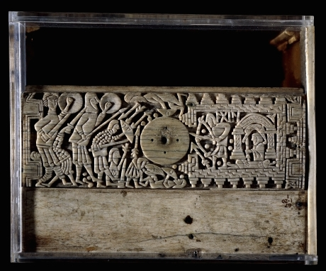 The Franks Casket, c. 700, whalebone, 22.9 x 19 x 10.9 cm, Anglo-Saxon, Northumbria, England, © Trustees of the British Museum