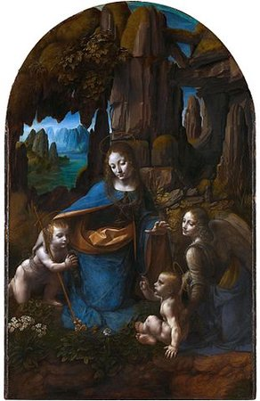 Leonardo da Vinci, The Virgin of the Rocks, c. 1491-1508, 189.5 x 120 cm, oil on panel, (National Gallery, London)