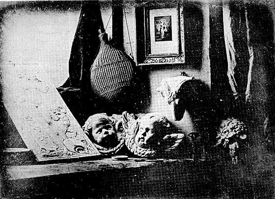 Louis Daguerre, The Artist's Studio, 1837, daguerreotype