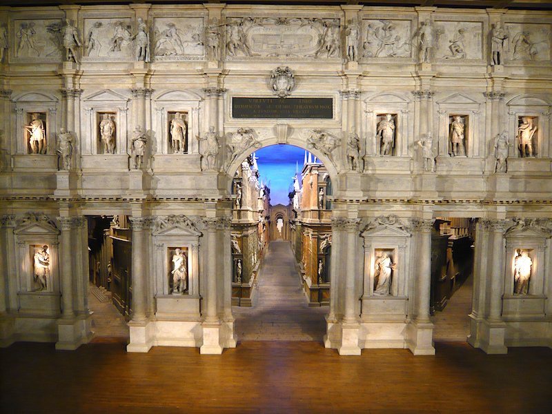Andrea Palladio (with scenographic modifications by Vicenzo Scamozzi), Teatro Olimpico, Vicenza, Italy, 1580-85 (photo: Terry Clinton, CC BY-NC 2.0)