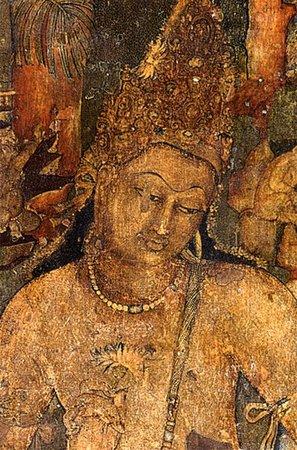 Bodhisattva Padmapani (detail), Cave 1