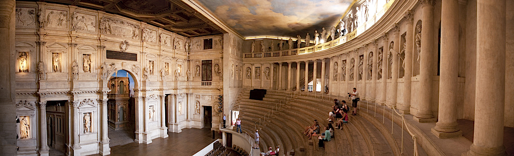 Andrea Palladio (with scenographic modifications by Vicenzo Scamozzi), Teatro Olimpico, Vicenza, Italy, 1580-85 (photo: philip-brown, CC BY-ND 2.0)
