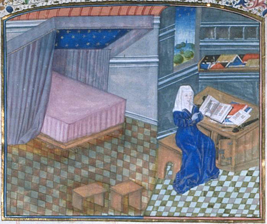 Christine de Pisan in her study. Brussels, Bibliothèque Royale, MS 9009-11