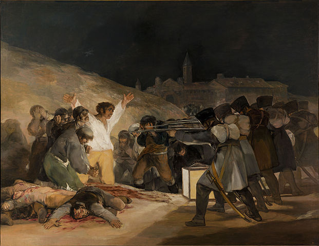 Francisco de Goya, The Third of May, 1808, 1814, oil on canvas, 266 x 345.1 cm (Prado. Madrid)