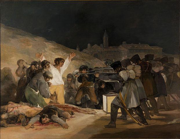 Francisco de Goya, The Third of May, 1808, 1814, oil on canvas, 266 x 345.1 cm (Prado. Madrid)