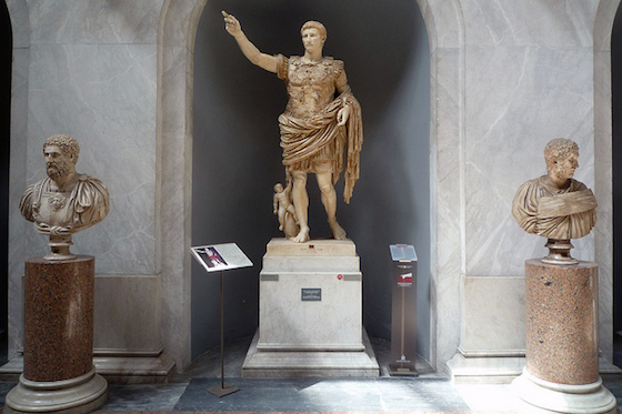 Augustus of Primaporta, 1st century C.E. (Vatican Museums) (photo: Steven Zucker, CC BY-NC-SA 2.0)
