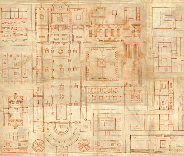 Detail, Plan of St. Gall, c. 820 C.E.