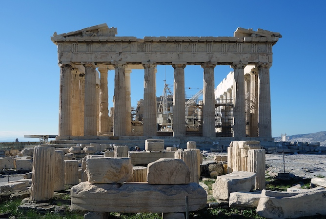 Iktinos and Kallikrates, The Parthenon, Athens, 447 – 432 B.C.E. (photo: Steven Zucker, CC BY-NC-SA 2.0)
