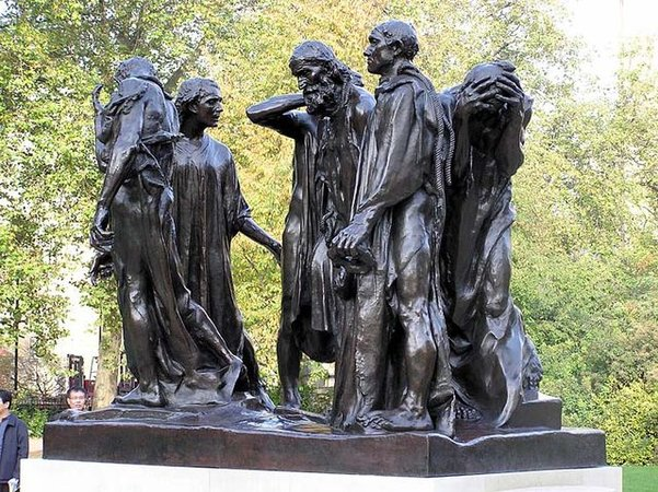 Auguste Rodin, The Burghers of Calais, bronze, 1884-95 (Musée Rodin, Paris)
