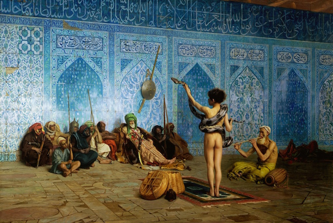 Jean-Léon Gérôme, The Snake Charmer, c. 1879, oil on canvas (Sterling Francine Clark Art Institute, Williamstown, Massachusetts)