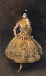 John Singer Sargent, La Carmencita, 1890, oil on canvas, 229 x 14 cm. (Musée d'Orsay, Paris)