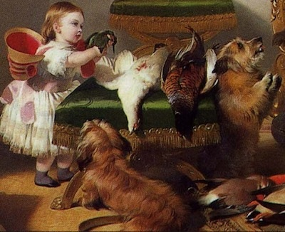 Princess Royal with Cairnach and Islay (detail) Sir Edwin Landseer, Windsor Castle in Modern Times; Queen Victoria, Prince Albert and Victoria, Princess Royal, 1840-43, oil on canvas, 113.3 x 144.5 cm (The Royal Collection)