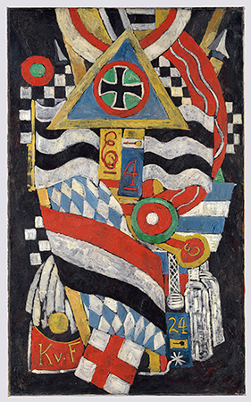 Marsden Hartley, Portrait of a German Officer, 1914, oil on canvas, 173.4 x 105.1 cm (Metropolitan Museum of Art)