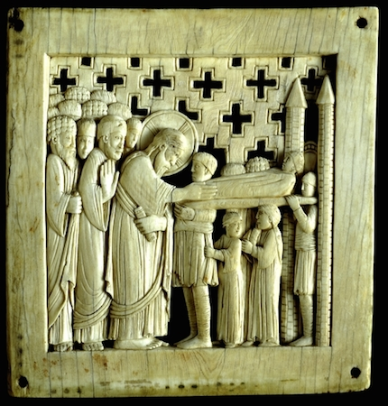 Magdeburg Panel, 962-68, ivory, 12.5 x 12 cm, Ottonian from Milan (The British Museum)