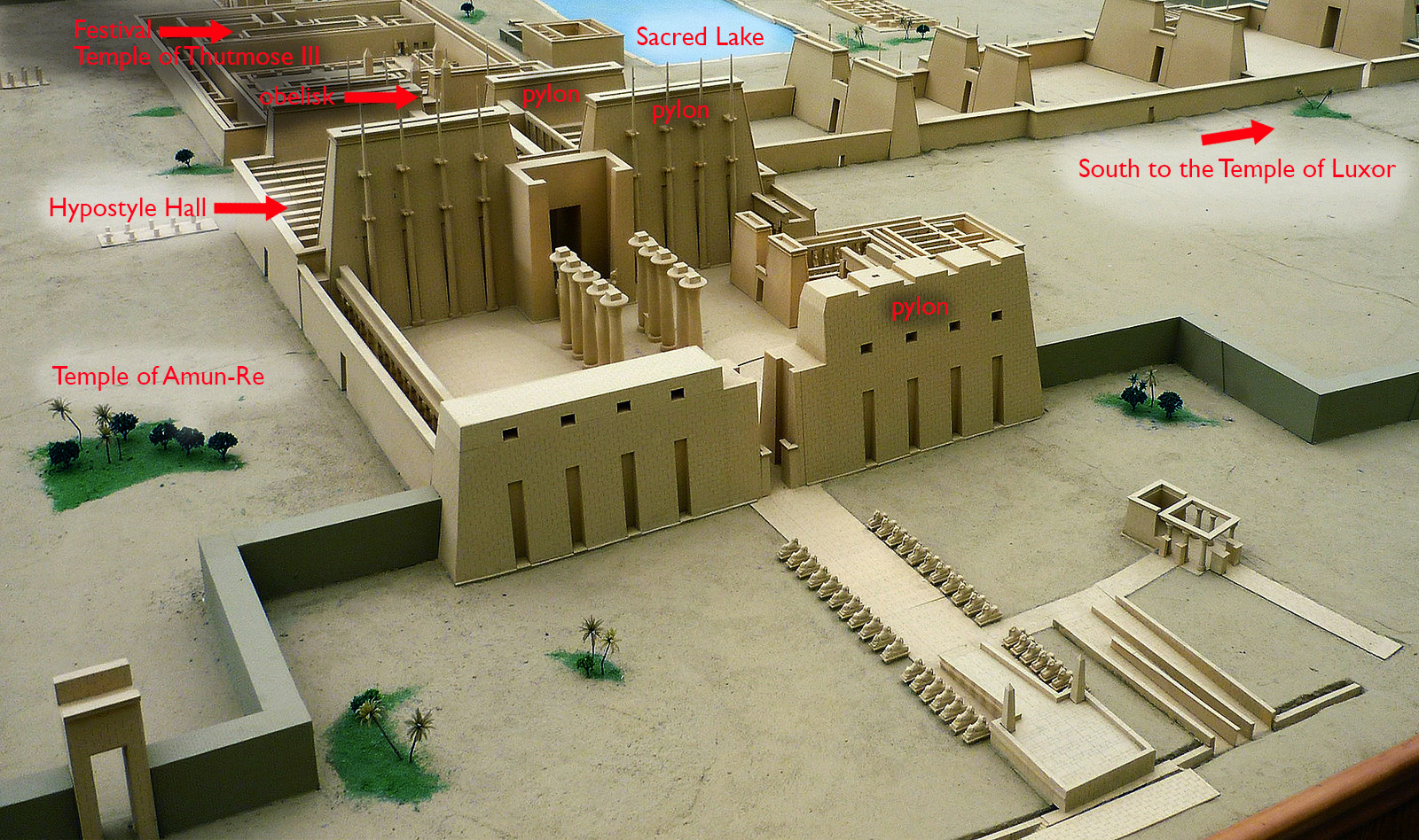 Model of the Precinct of Amon-Re, Karnak (photo: Rémih, CC: BY-SA 3.0)