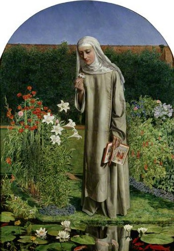 Charles Allston Collins, Convent Thoughts, 1851, oil on canvas, 84 x 59 cm (Ashmolean Museum of Art)