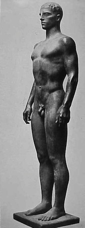Arno Breker, Decathlon Athlete (Zehnkämpfer), 1936, bronze