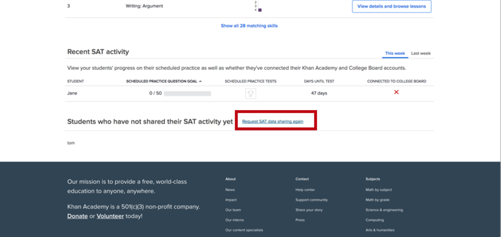 Using Official SAT Practice in the classroom (article) | Khan Academy