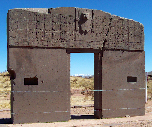 Gate of the Sun, Tiwanaku, 500 and 900 C.E., La Paz, Bolivia (photo: thoew, CC BY-NC-ND 2.0)