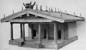 Reconstruction of an Etruscan Temple of the 6th century according to Vitruvius