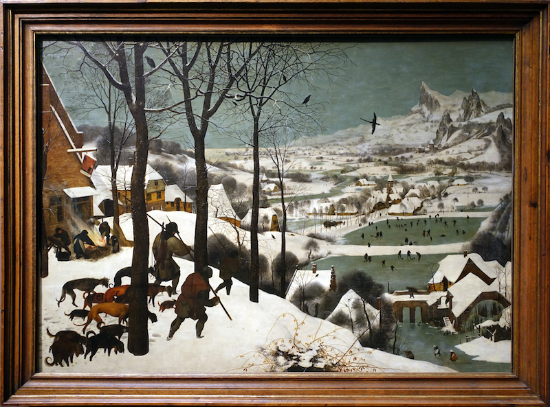 pieter bruegel the elder hunters in the snow winter article  pieter bruegel the elder hunters in the snow winter 1565 oil on wood 162 x 117 cm kunsthistorisches museum vienna