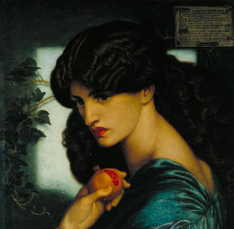 Dante Gabriel Rossetti, Proserpine, 1874, oil on canvas, 125.1 x 61 cm (Tate Britain, London)