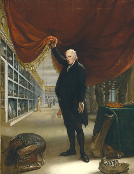 Charles Wilson Peale, The Artist in His Museum, 1822, oil on canvas, 263.5 x 202.9 cm (Pennsylvania Academy of Fine Arts)