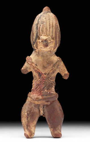 Shaman, Middle Preclassic (1200-600 B.C.E.), Tlatilco, 9.5 cm high (National Museum of Anthropology, Mexico City)