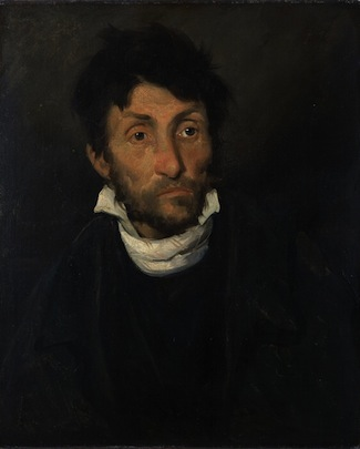 Théodore Géricault, Portrait of a Kleptomaniac, 1822, oil on canvas, 61 x 50 cm (Museum of Fine Arts, Ghent, Belgium)