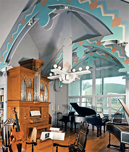 Robert Venturi, John Rauch, and Denise Scott Brown, Music Room, House in New Castle County, Delaware, 1978-83 (photo: © Venturi, Scott Brown Collection/The Architectural Archives, University of Pennsylvania/detail of photo by Matt Wargo)