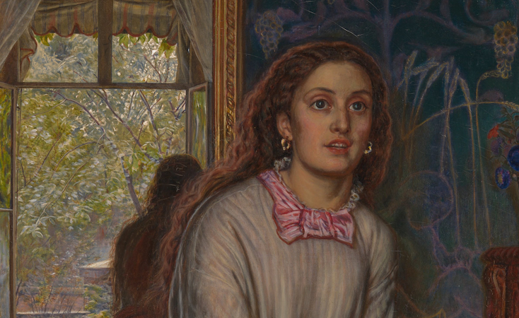 William Holman Hunt, detail The Awakening Conscience, 1853, oil on canvas, 76.2 x 55.9 cm (Tate Britain, London)