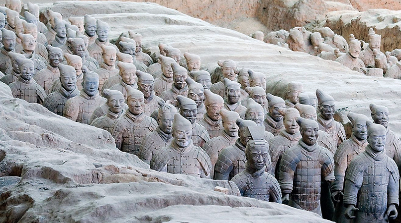 Terracotta Warriors from the mausoleum of the first Qin emperor of ...