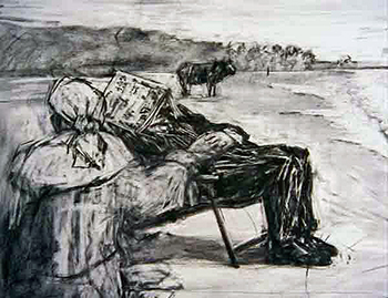 William Kentridge, Drawing from Tide Table, 2003 © William Kentridge