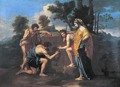 Nicolas Poussin, Et in Arcadia Ego, 1637-38, oil on canvas, 87 x 120 cm (Musée du Louvre, Paris)