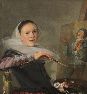 Judith Leyster, Self-Portrait, c. 1630, oil on canvas, 651 x 746 cm (National Gallery of Art, Washington)