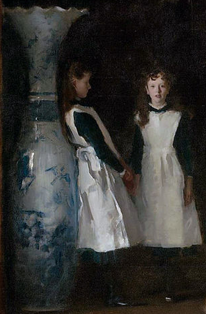Detail, John Singer Sargent, The Daughters of Edward Darley Boit, 1882, oil on canvas, 221.93 x 222.57 cm (Museum of Fine Arts, Boston)