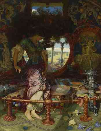 William Holman Hunt, The Lady of Shalott, c. 1890-1905, oil on canvas (Wadsworth Athenaeum Museum of Art, Hartford, CT)