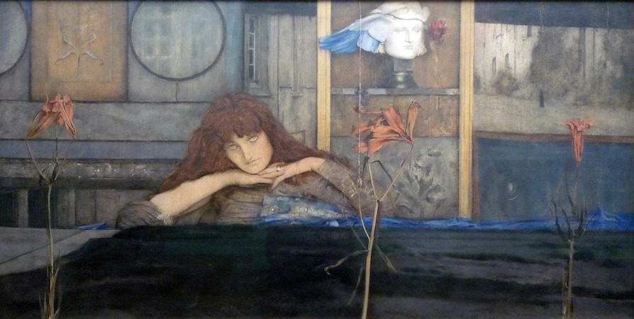 Fernand Khnopff, I Lock my Door Upon Myself, 1891, oil on canvas, 72.7 x 141 cm (Neue Pinakothek, Munich)