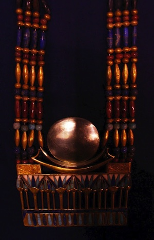 Tutankhamun's lunar pectoral in the Egyptian Museum, Cairo (New Kingdom)