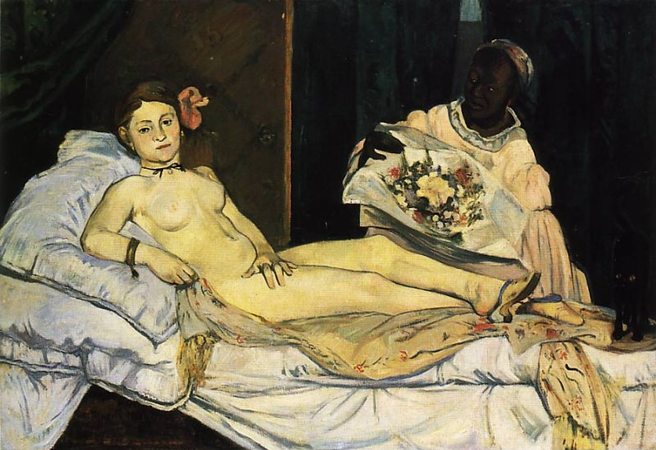 Paul Gauguin, Copy of Manet's Olympia, 1891, oil on canvas, 89 x 130 cm (Private collection)