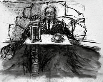 "William Kentridge, Drawing for the film ""Mine,"" 1991 © William Kentridge"