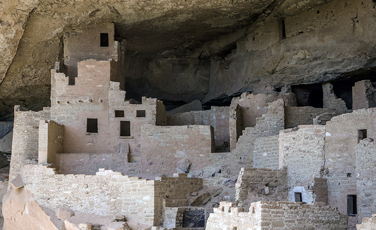 View of Cliff Palace structures, Mesa Verde (photo: Paul Middleton, Shadow Dancer Images, CC: BY-NC 2.0)