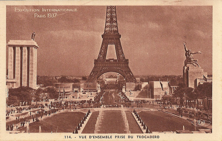 Postcard of the International Exposition, Paris, 1937 (from a series of 20 detachable cards, edited by H. Chipault)