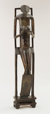 Alberto Giacometti, Hands Holding the Void (Invisible Object), 1934 (cast c. 1954-55), bronze, 152.1 cm high (The Museum of Modern Art)