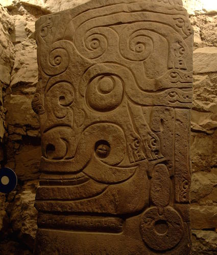 Detail of carving, Lanzón Stela, Building B, Chavín de Huántar (photo: Cyark, CC BY-SA 3.0)