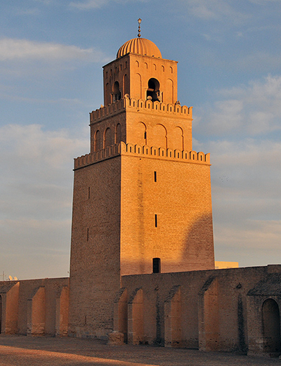 Minaret, Great Mosque of Kairouan (photo: Tab59, CC BY-SA 2.0)