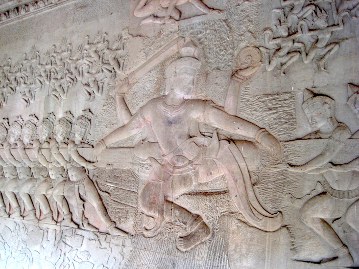Angkor wat article cambodia khan academy carved bas reliefs of hindu narratives malvernweather Choice Image