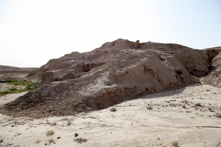 Remains of the Anu Ziggurat, Uruk (modern Warka), c. 3517-3358 B.C.E. (photo: Geoff Emberling, by permission)